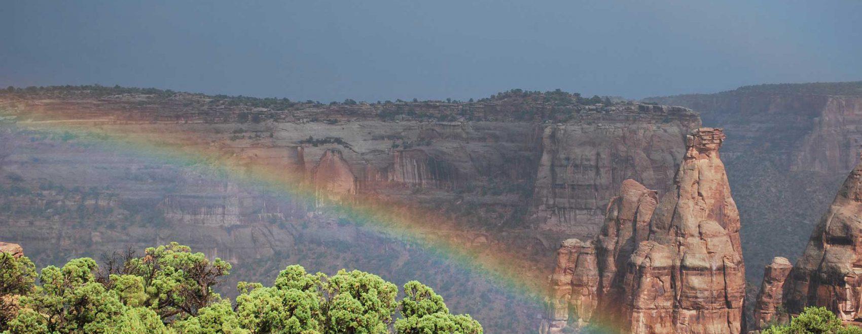 Rainbow over Colorado National Monument